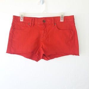 Madewell Red Denim Cutoff Shorts